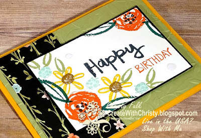 Short & Sweet Saturday - Paint Play Birthday Card
