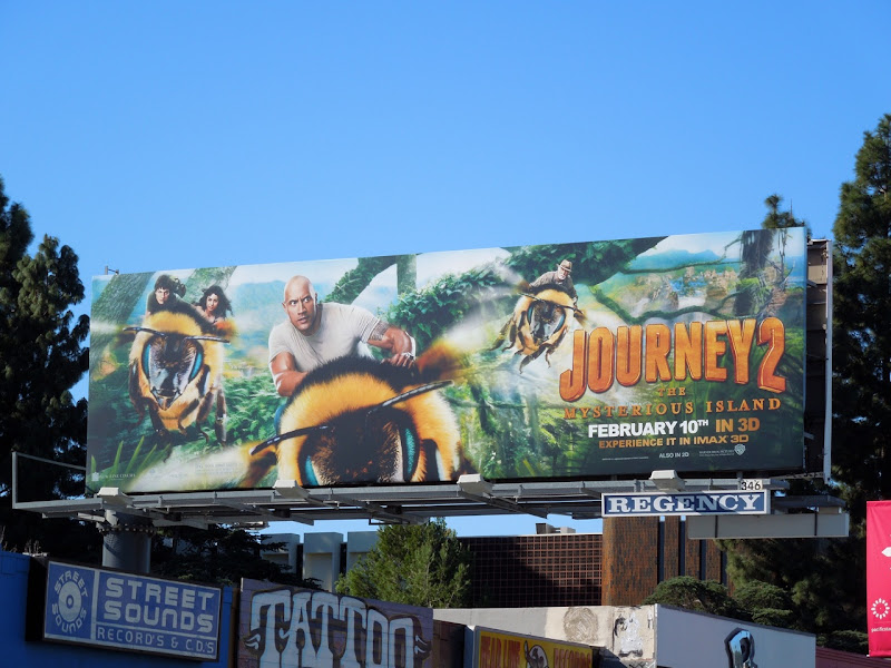 ourney 2 Mysterious Island bee billboard