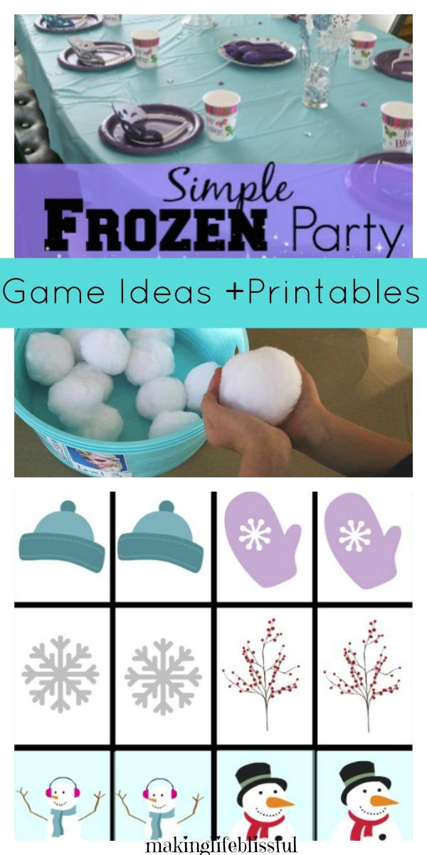 simple frozen birthday party ideas