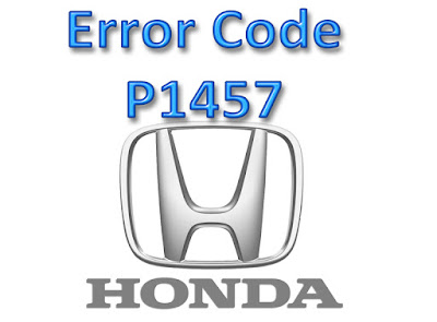 Error code p1457 honda