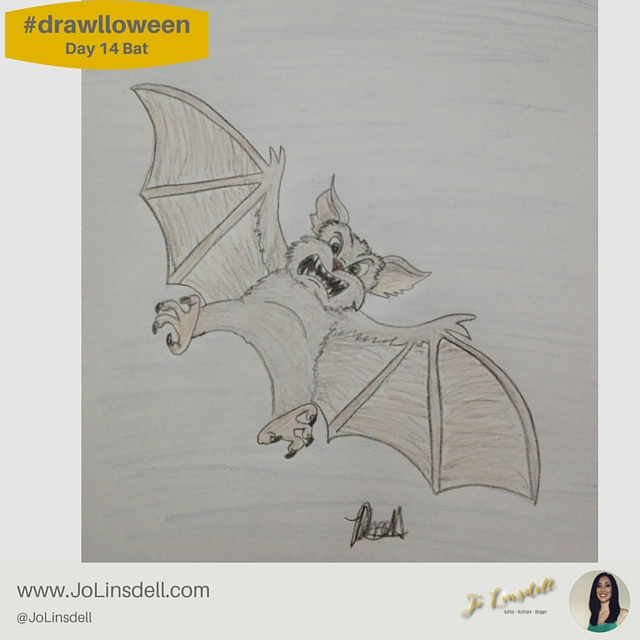 #drawlloween: Day 14 Bat #Halloween #Drawing #Challenge