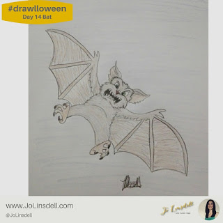 #Drawlloween Day 14 bat #Drawing #challenge