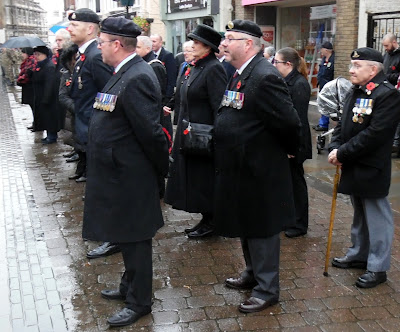Picture: Service veterans proudly wearing their medals in Brigg town centre on Remembrance Sunday 2018 - see Nigel Fisher's Brigg Blog