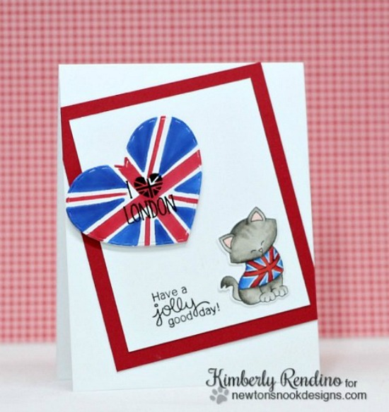 London card by Kimberly Rendino | Newton Dreams of London stamp set by Newton's Nook Designs #newtonsnook #london