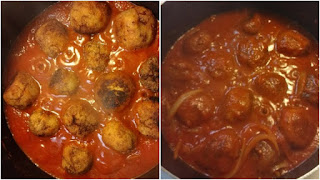 Paleo Homemade-Fry or Baked Turkey Meatballs before and after cooking (Gluten-Free, Keto).jpg before and after cooking.jpg