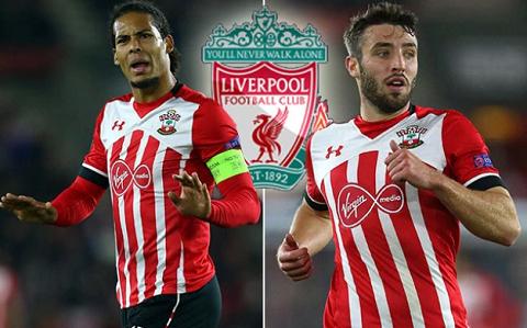 2 cầu thủ được hỏi mua của Southampton.