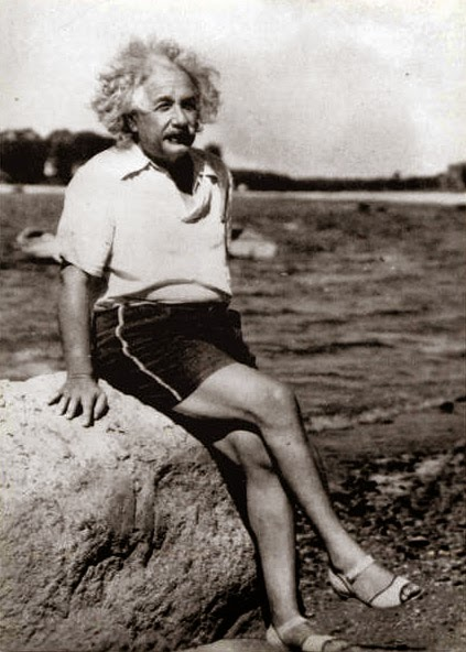 Einstein was legendary for going sockless.
