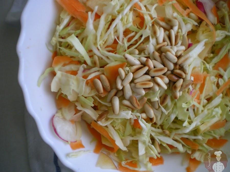 Ensalada de col, ingredientes