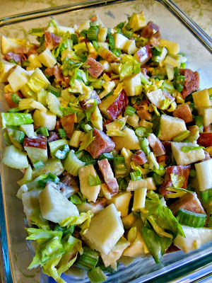 Apple Celery and Ham Toss, part of our December blitz of recipes!