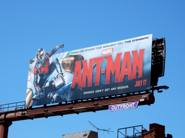 Marvel Ant-Man special extension billboard