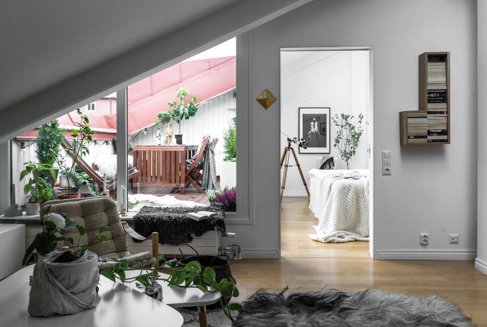 Appartamento open space con terrazza sul tetto | Blog di arredamento ...