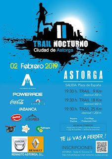 Clasificaciones Trail Nocturno Astorga 2019