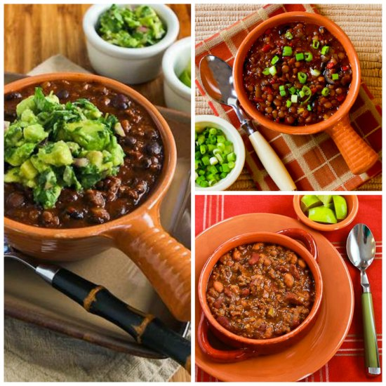 Healthy Chili Recipes that Aren't Just for the Superbowl!  [found on KalynsKitchen.com]