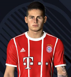 PES 2017 Faces James Rodriguez by Ben Hossam FaceMaker
