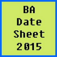University of Karachi UOK BA Date Sheet 2017