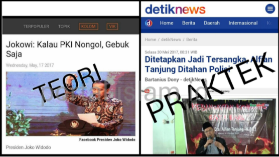 Kemarin Jokowi Bilang Mau Gebuk PKI, Sekarang Kok Malah yang Kritik PKI yang Diseret ke Polda