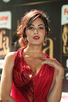 Videesha in Spicy Floor Length Red Sleeveless Gown at IIFA Utsavam Awards 2017  Day 2  Exclusive 29.JPG