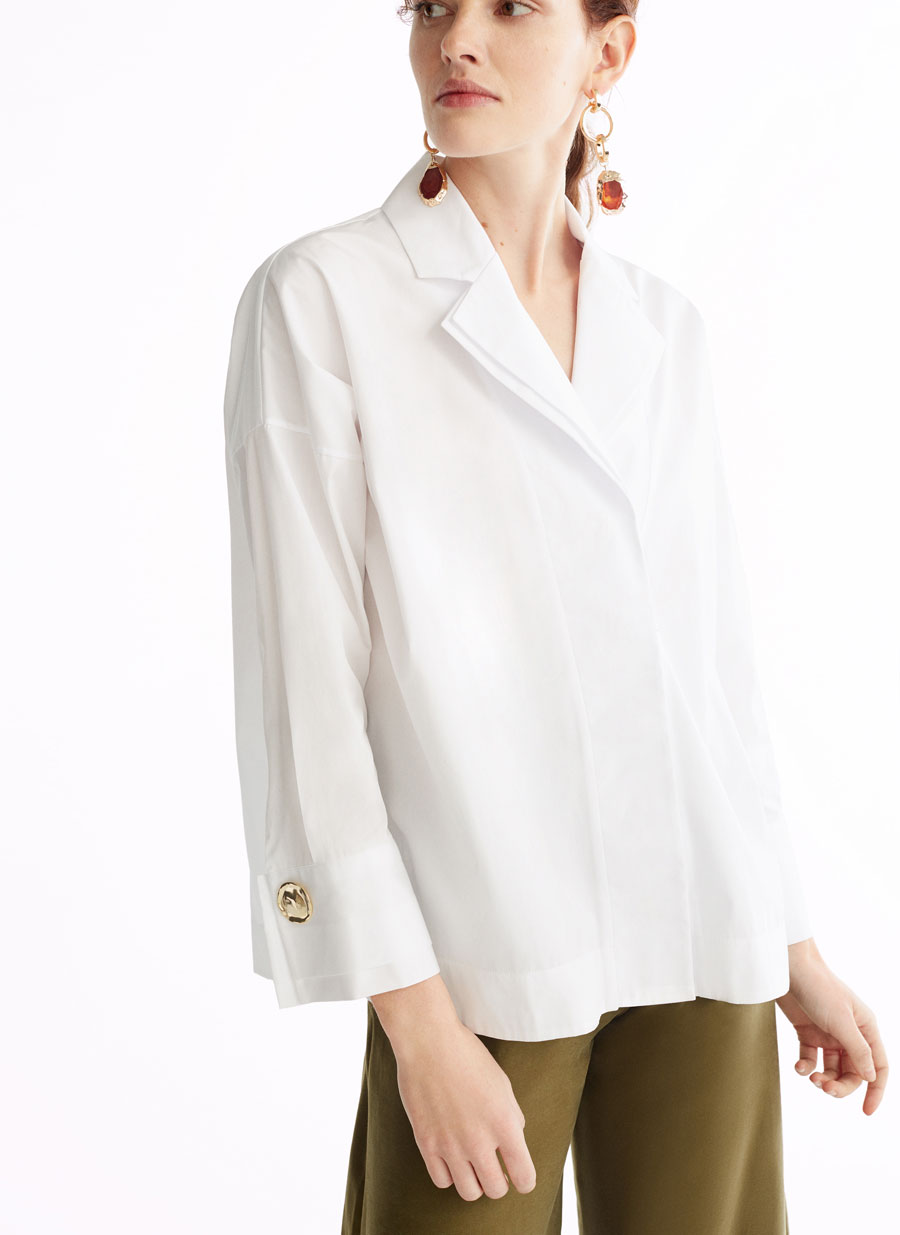 Uterqüe double lapel shirt