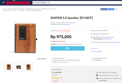 Review Speaker Edifier R1280T