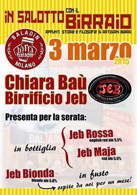 """In Salotto con il Birraio """"al femminile"""" e non solo… 3 Marzo Milano"""