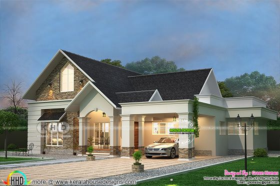 3 Bedroom sloped roof bungalow architecture