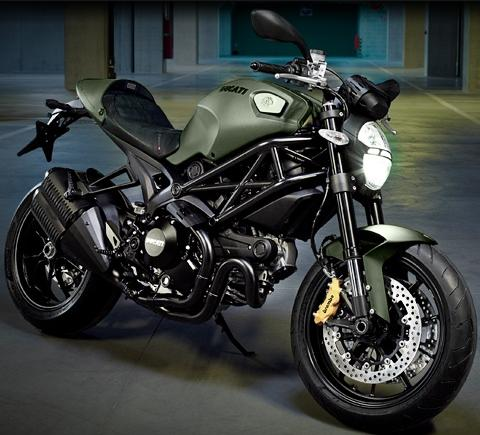 Ducati Monster Army Green