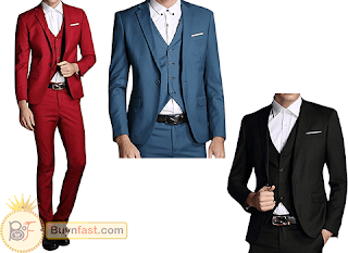 MOGU Mens One Button Suits - Be At The Center Of The Attention!