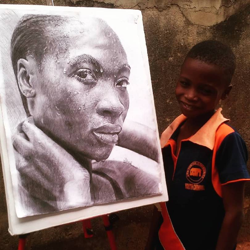 kareem waris olamilekan, kareem waris, waris kareem, waris kareem art, waris kareem artist, 11 year old artist, waris kareem drawings, kareem waris art, child artist