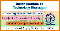 Indian Institute of Technology Kharagpur Recruitment2017–Junior Research Fellowship