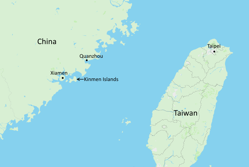 kinmen islands map