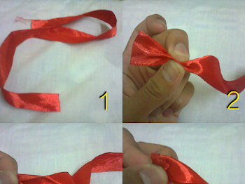 Tutorial DIY Bunga Rose dari Riben (Rose Ribbon)
