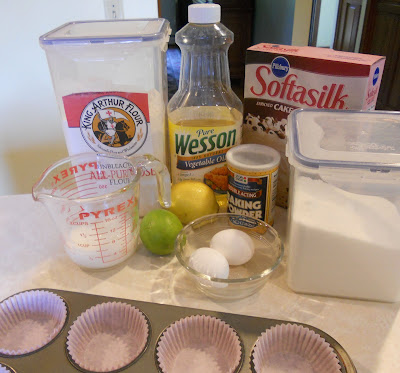 Lemon-lime Cupcake Ingredients