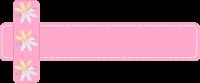 Faixa flor rosa para blog - Criação Blog PNG-Free