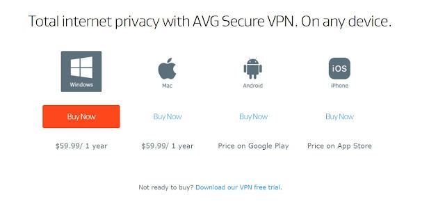 Avg Secureline Vpn Pricing