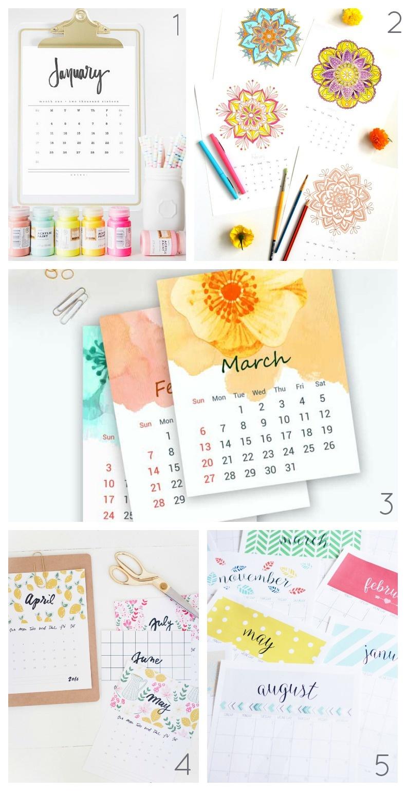 plánovací kalendář 2016