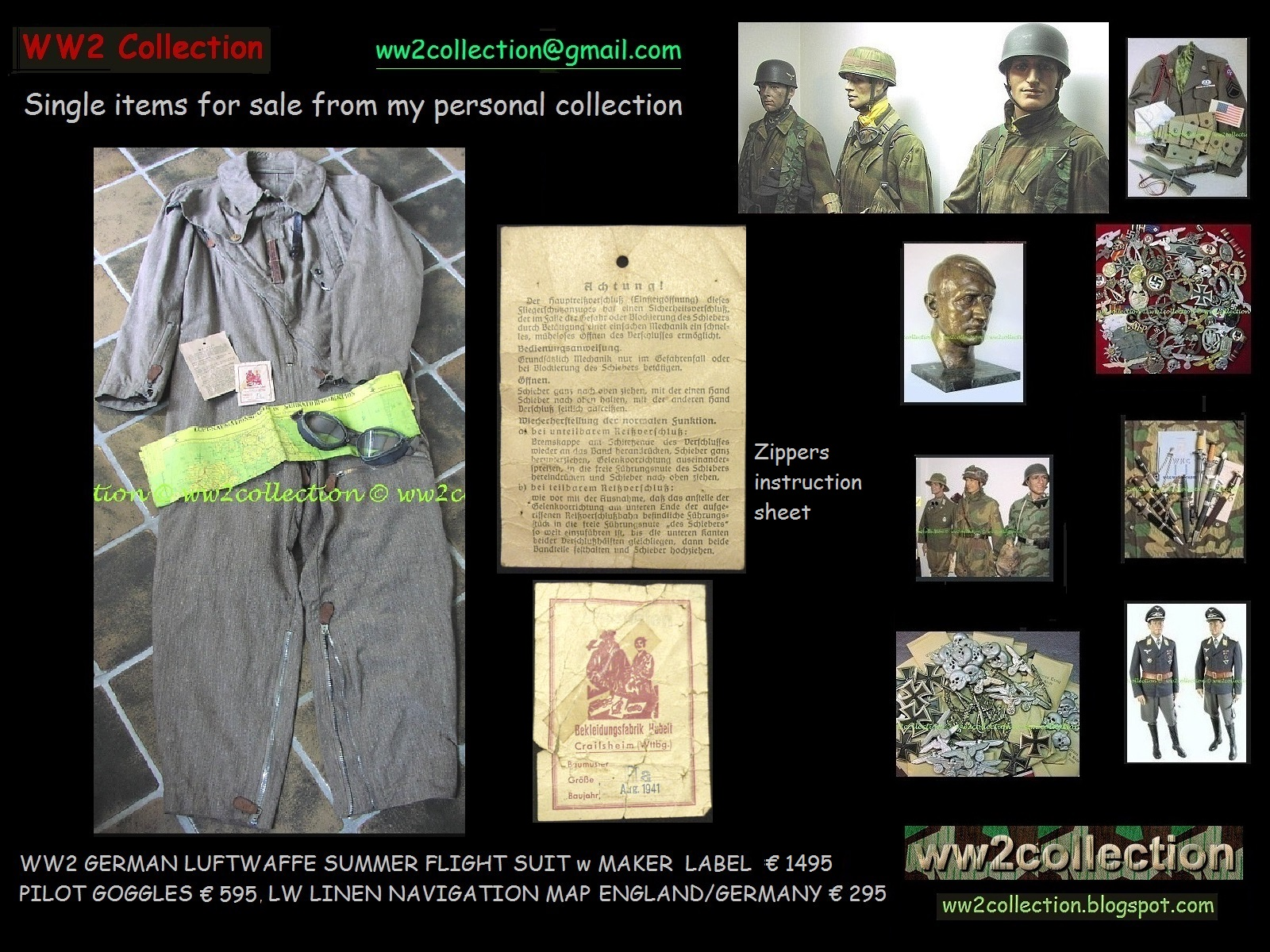 Map Of Germany For Sale.Ww2 Collection Price List Of My Private Collection Liquidation Ww2