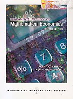 FUNDAMENTAL METHODS OF MATHEMATICAL ECONOMICS FOURTH EDITION Karya: Alpha C. Chiang - Kevin Wainwright