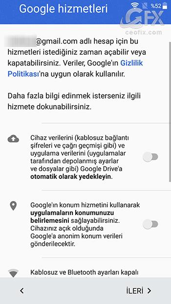 android google hizmetleri - www.ceofix.com