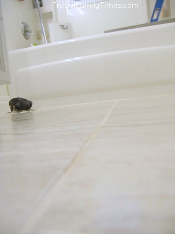 grouting vinyl tile