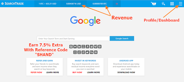 Search Trade - Search on Google, Yahoo and Earn More Revenue with Every Search
