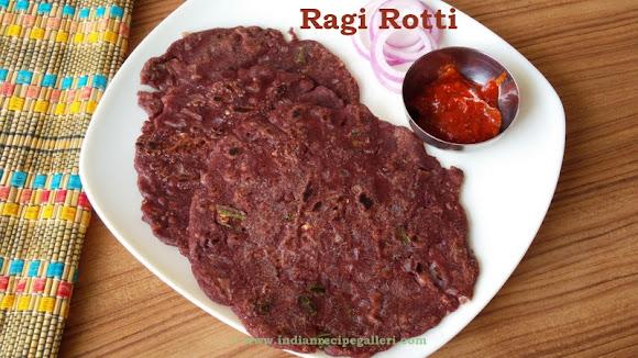 Ragi Rotti, Finger Millet Flour Roti