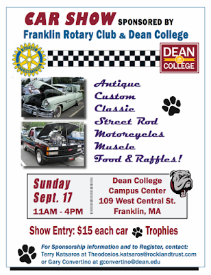 Car Show this Sunday at Dean College Campus Center