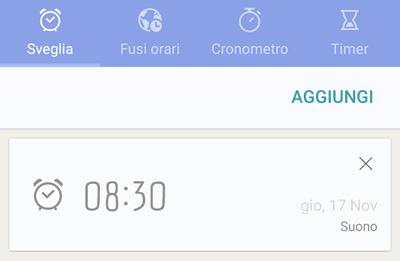 Come impostare la sveglia su Android