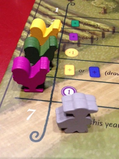 Rooster track for game of Viticulture