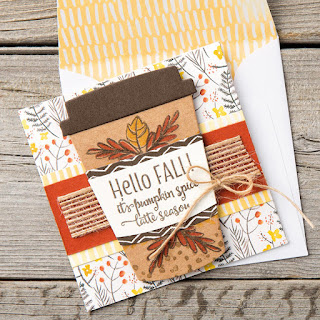 Stampin' Up! Merry Cafe Pumpkin Latte Fall Mini Card ~ 2017 Holiday Catalog