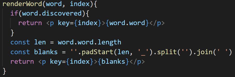 Code - Render word