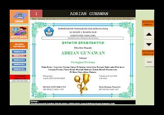 Aplikasi Piagam Penghargaan Bagi Siswa