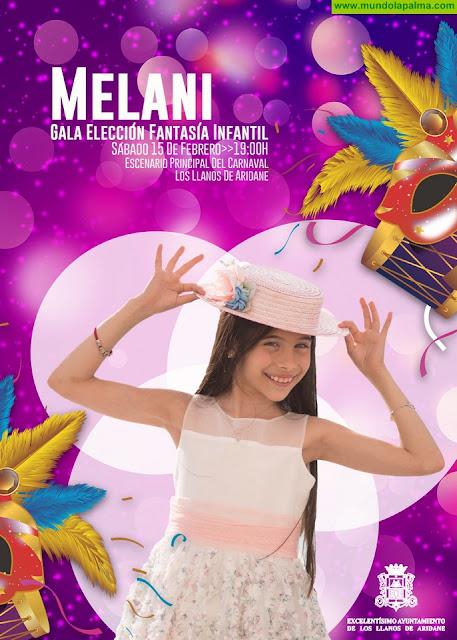 Melani García, la representante española de Eurovisión Junior, actuará este sábado en la Gala Elección de la Fantasía Infantil de Los Llanos de Aridane