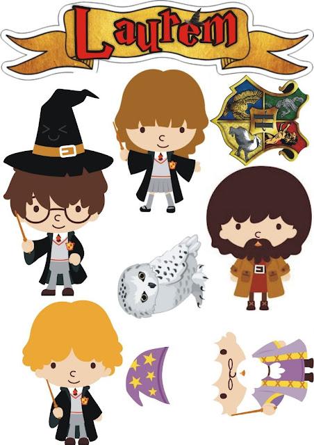 Harry Potter Bebés: Toppers para Tartas, Tortas, Pasteles, Bizcochos o Cakes para Imprimir Gratis.