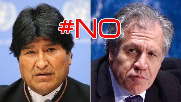 Luis Almagro y Evo Morales